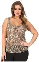 Hanky Panky Plus Size Leopard Nouveau Cami Women's Sleeveless