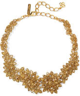 Oscar de la Renta Gold-plated Swarovski Crystal Necklace - one size