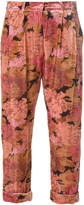 Mes Demoiselles cropped floral trousers