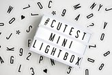 Mini My Cinema Lightbox - LED with 100 letters, numbers, symbols to create personalized marquee signs - Includes USB, or battery powered.