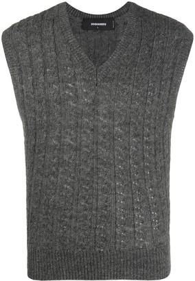 DSQUARED2 Wool Sleeveless Jumper
