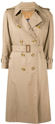 Burberry Pre Owned Over-The-Knee Belted Trench Coat