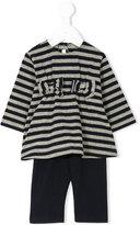 Il Gufo striped bow detail dress set