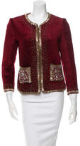 Naeem Khan Collarless Embellished Jacket