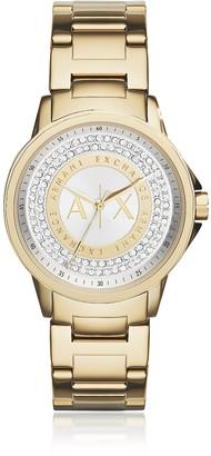 Armani Exchange Lady Banks Gold Tone Women's Watch