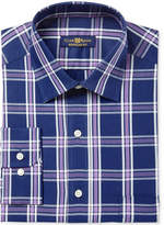 Club Room Men's Classic/Regular Fit Framed Triple Plaid Dress Shirt, Created for Macy's