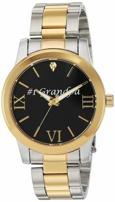 EWatchFactory Unisex Family Grandpa Analog-Quartz Watch with Stainless-Steel Strap