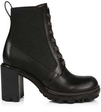 Rag & Bone Shaye Block-Heel Leather Combat Boots