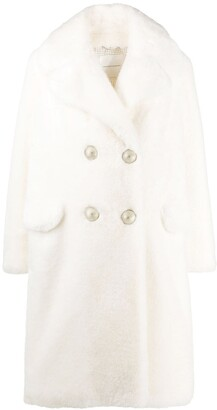 Ermanno Scervino Faux Fur Double-Breasted Coat