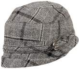 Wilsons Leather Womens Cloche Plaid Hat W/ Buckle