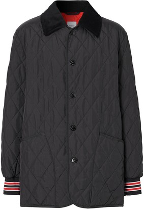 Burberry Diamond-Quilted Padded Jacket