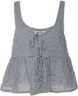 Ciao Lucia Rocco Printed Cotton-Blend Tank Top