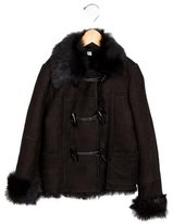 Burberry Girls' Shearling Long Sleeve Jacket