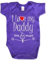 Dirty Fingers, I Love my Daddy this much, Novelty Baby Bodysuit, 0-3m