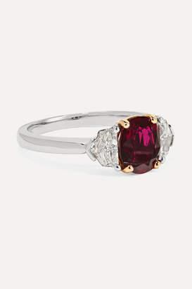 Bayco Platinum, 18-karat Gold, Ruby And Diamond Ring