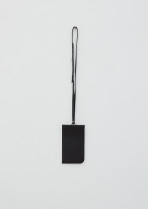 Lemaire Leather Neck Pouch Black