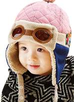 Kafeimali Baby Boys Girls Crochet Earflap Winter Warm Caps Beanie Pilot Aviator Cartoon Hats