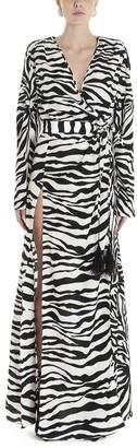 ATTICO Striped Maxi Dress