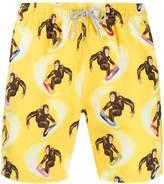 Mc2 Saint Barth Monkey print swim shorts
