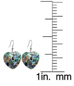 V3 Jewelry Sterling Silver with Abalone Shell Dangle Earrings