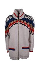Stella McCartney Mccartney Feather Print Zipper Cardigan