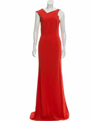 Roland Mouret Sleeveless Maxi Dress w/ Tags Orange