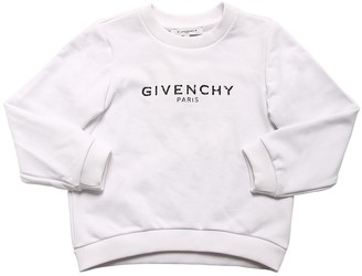 Givenchy Logo Printed Cotton Blend Sweatshirt