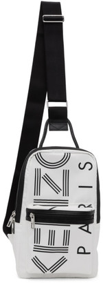 Kenzo White Crew Logo Crossbody Backpack