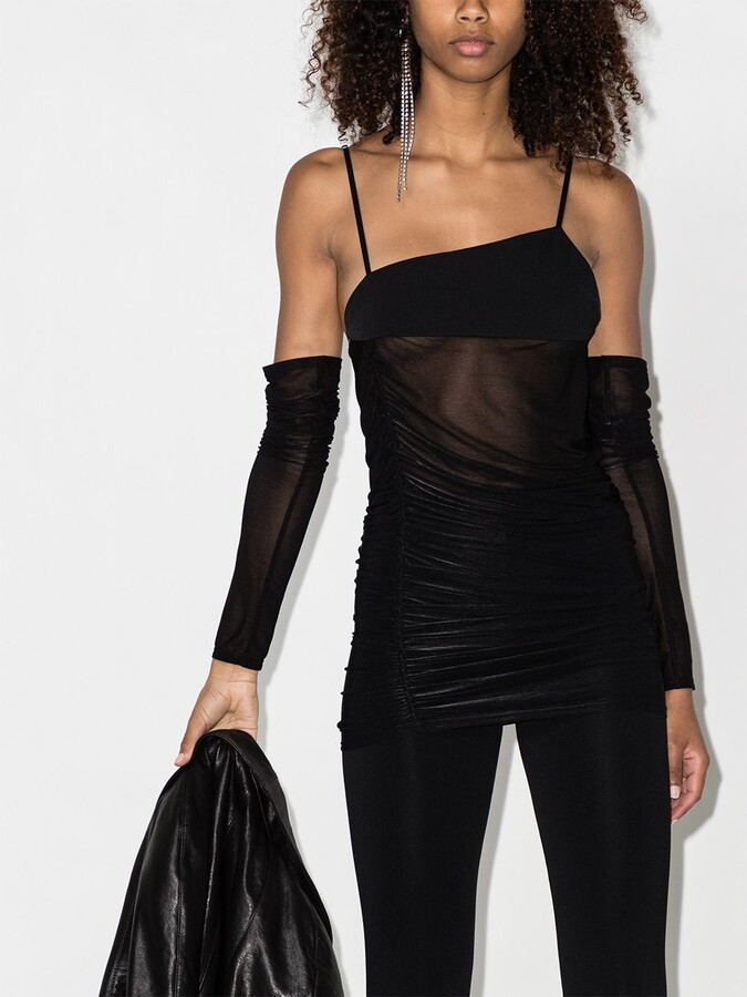 Thumbnail for your product : Supriya Lele Ruched Bra Top