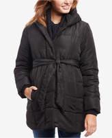 Motherhood Maternity Belted Hooded Coat
