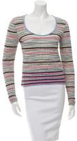 M Missoni Striped Knit Sweater