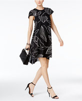 Alfani PRIMA High-Low Cape Shift Dress, Only at Macy's
