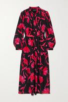 Saloni Remi Floral-print Silk Crepe De Chine Midi Dress