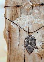 Designs By Alina Minimalist Raindrop Diamond And 14k Gold Necklace