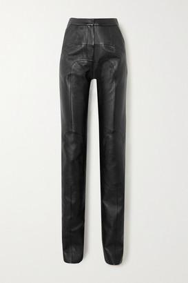 MATÉRIEL Paneled Faux Leather Straight-leg Pants - Black