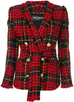 Balmain double-breasted blazer - women - Cotton/Acrylic/Polyamide/Wool - 36