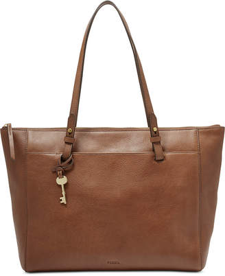 Fossil Rachel Leather Tote With Zipper