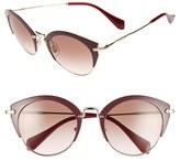 Miu Miu Women's 52Mm Cat Eye Sunglasses - Amaranth/ Pale Gold