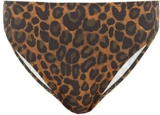 Fisch Public Leopard-print High-rise Bikini Briefs - Womens - Leopard