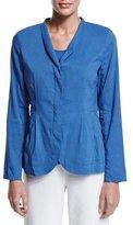Eileen Fisher Shawl-Collar Peplum Jacket, Blue