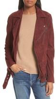 Theory Women's Tralsmin Tidle Suede Notch Collar Jacket