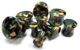 "Urban Body Jewelry 1 Pair of 9/16"" Gauge (14mm) Camouflage Plugs - Double Flare"