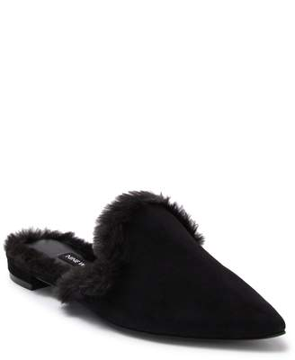 Nine West Ashlena Faux Fur Lined Mule