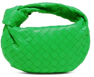 Bottega Veneta The Jodie Mini Intrecciato Leather Clutch Bag - Green