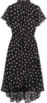 Madewell Natasha Printed Chiffon Dress - Black