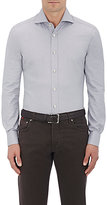 Kiton Men's Fitted Oxford Cloth Shirt-LIGHT GREY
