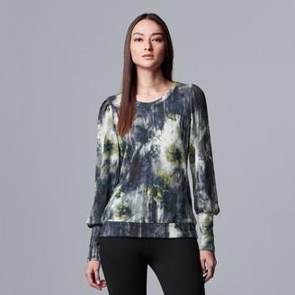 Vera Wang Women's Simply Vera Ribbed Cuff Pullover