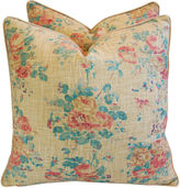 One Kings Lane Vintage Ralph Lauren Linen Floral Pillows, Pair