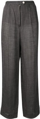 Krizia Pre Owned 1970's Pinstriped Tapered Trousers