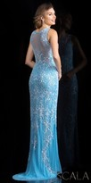 Scala Dainty Fully Beaded Illusion Back Sparkling Prom Dress